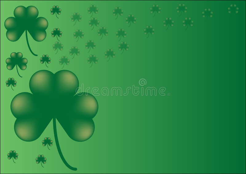 shamrock vektor illustrationer