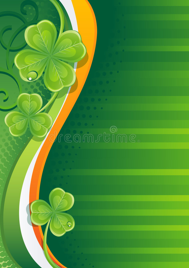 Download Shamrock stock vector. Image of luck, plant, wave, green - 8196778