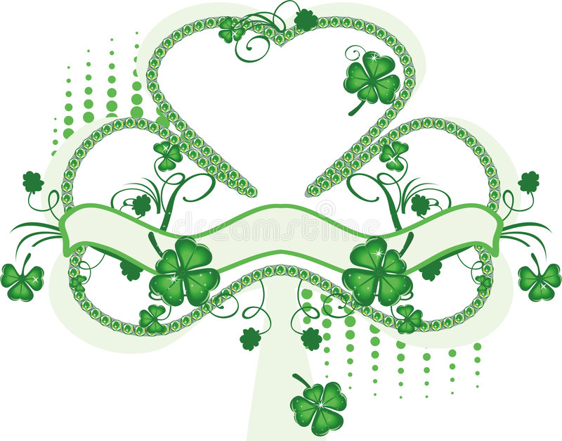 shamrock royaltyfri illustrationer