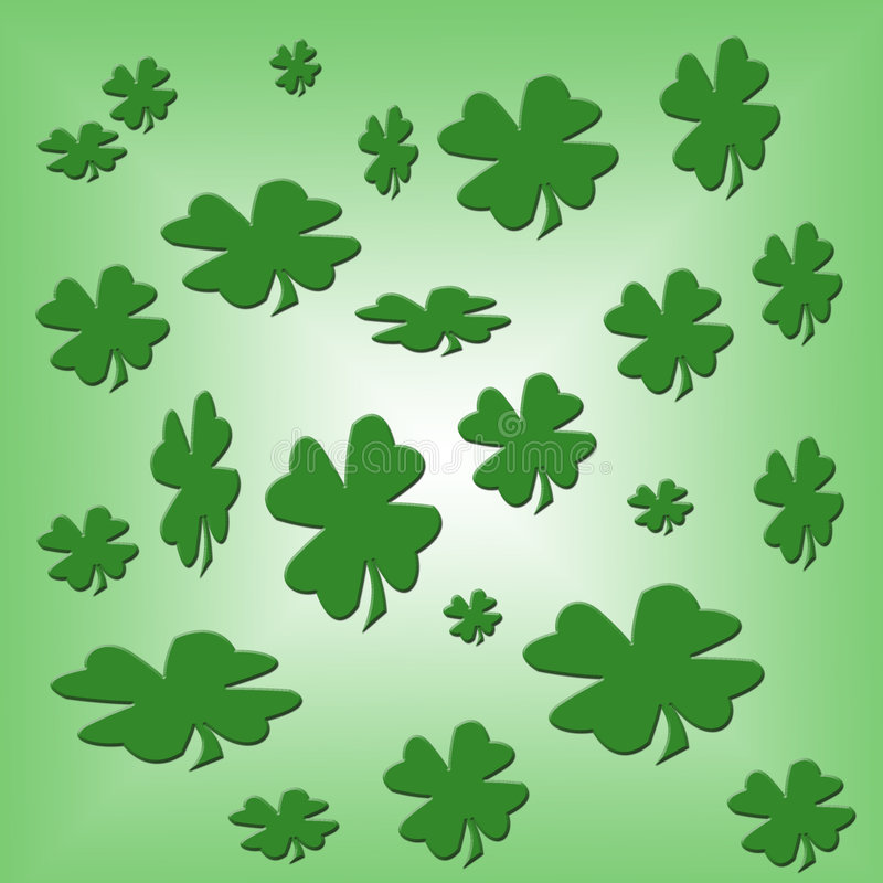 Shamrock Background Design Template Royalty Free Stock Photo
