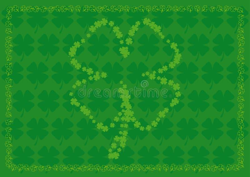 Shamrock background with four leaf shamrock shapes royalty free stock photos