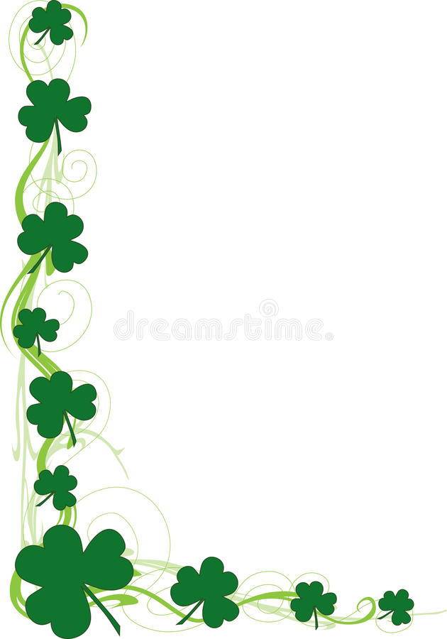 shamrock border stock vector illustration of patricks 18098193 rh dreamstime com