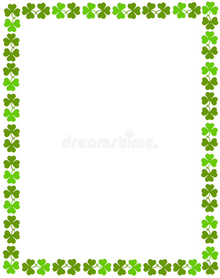 Shamrock Border vector illustration