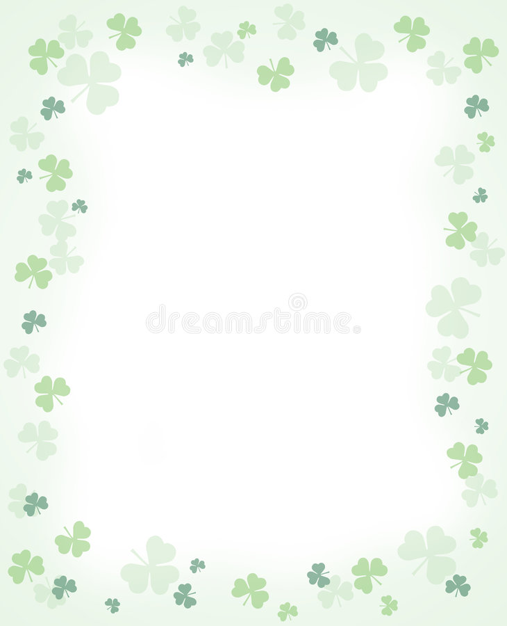 Download Shamrock Border stock illustration. Image of design, backgrounds - 8369335