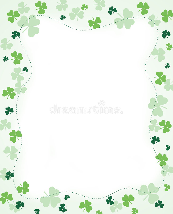 Download Shamrock Border stock vector. Image of botany, design - 8436278