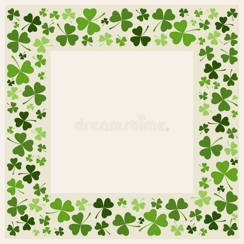 Clover border - vector. Clover leafs border - St. Patrick's day designs. The vector version can be scaled to any size without loss of quality. Eps file available vector illustration