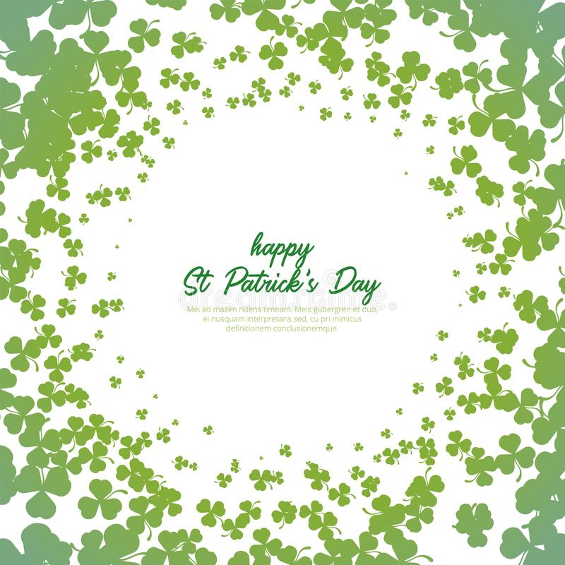 Shamrock circle pattern and background for st patrick`s day royalty free stock photo
