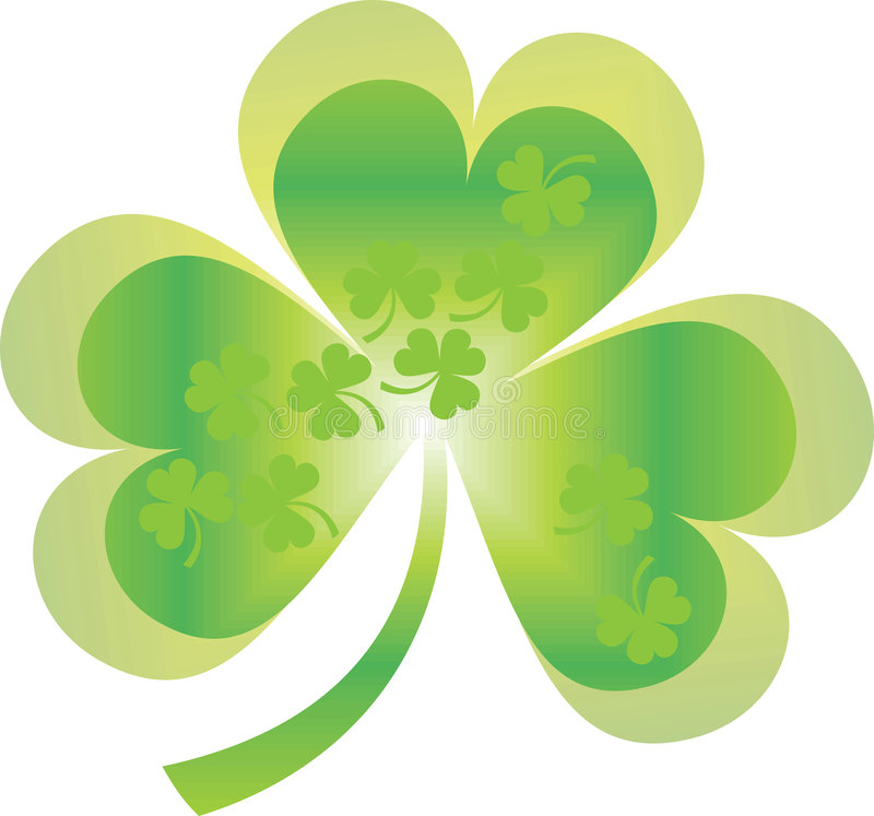 Download Shamrock and clover stock vector. Image of lucky, conceptual - 4439338