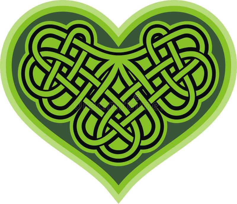 Shamrock Heart. Celtic Symbol Stock Vector - Illustration ...