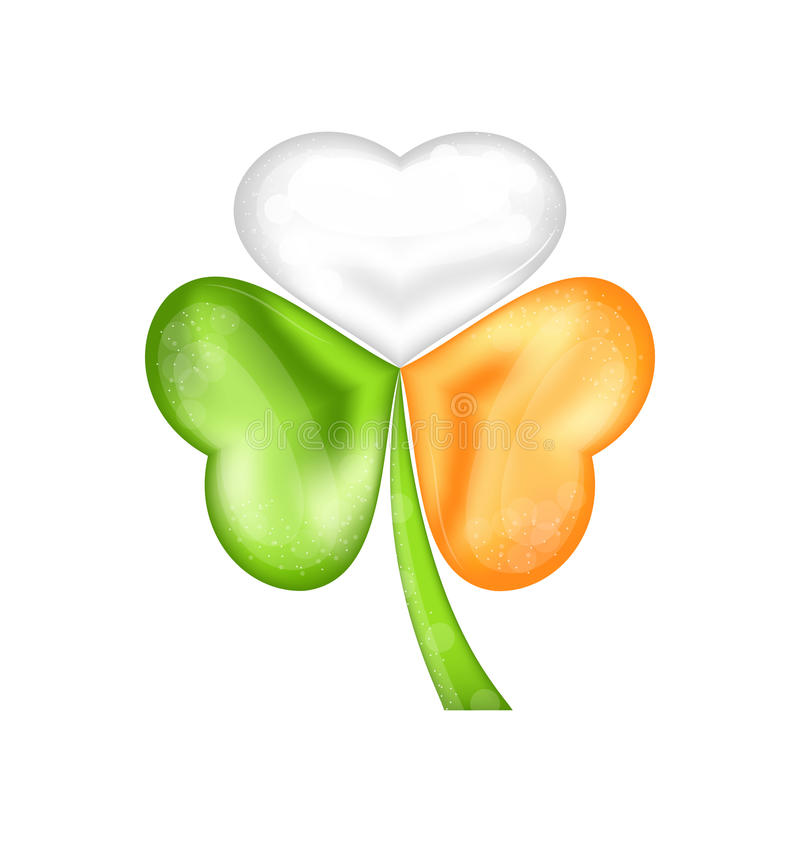 Shamrock In Irish Flag Color For Saint Patrick Day Stock Vector ...