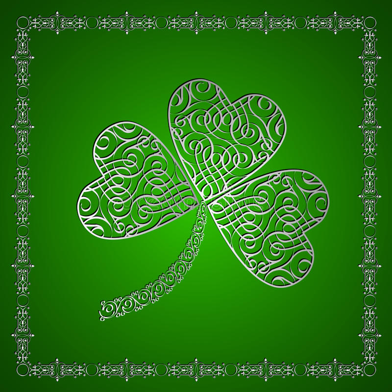 Download Shamrock- jewelry stock vector. Illustration of calligraphy - 22789441