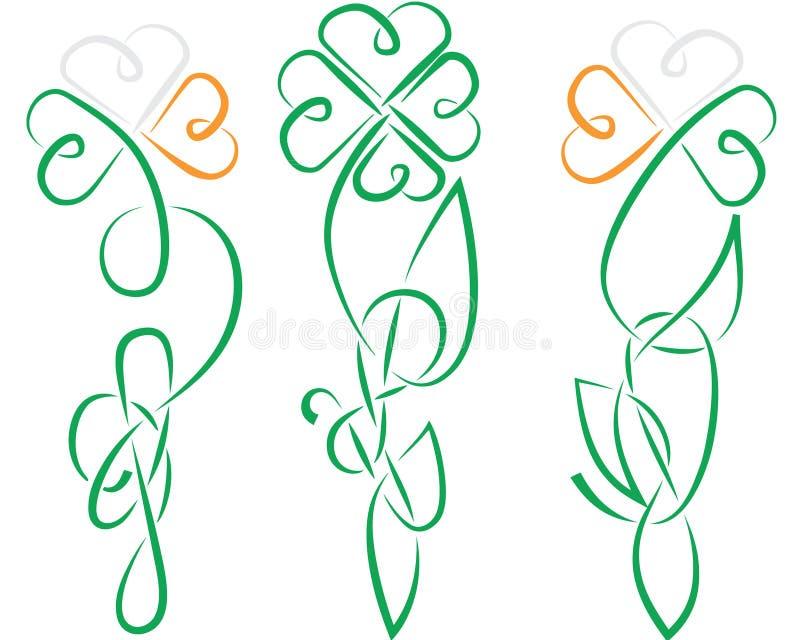 Shamrock-keltischer Irland-Knoten lizenzfreie abbildung