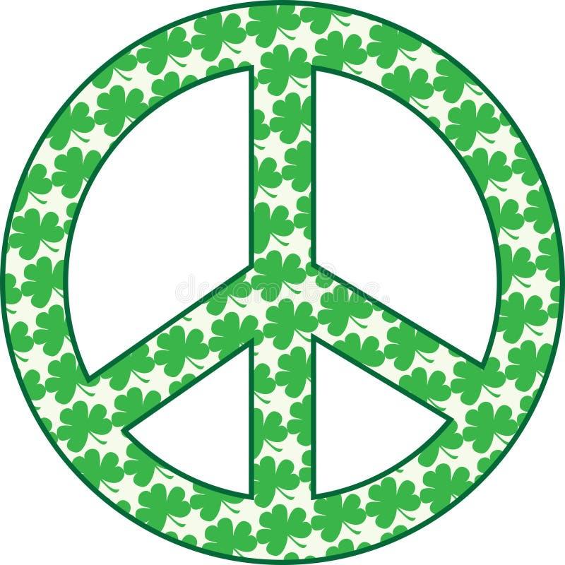 Download Shamrock Peace Sign stock illustration. Image of nature - 13291725
