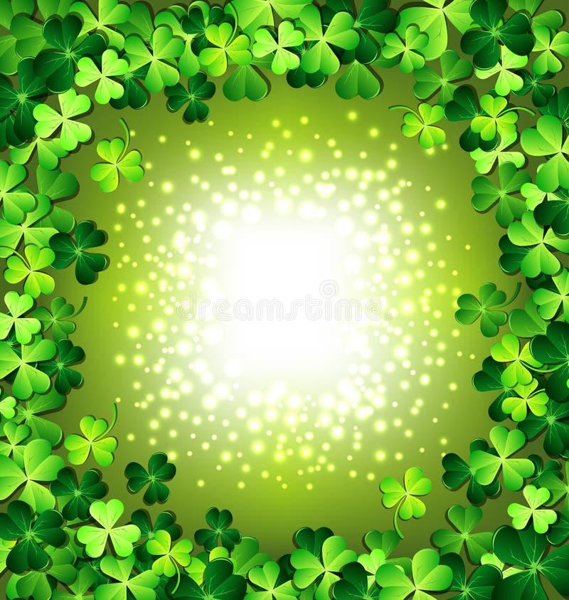 Shamrock rama dla St Patricks dnia karty ilustracja wektor