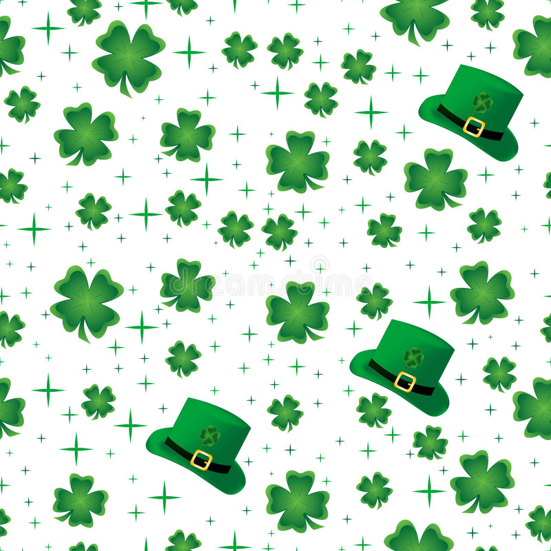 Download Shamrock Seamless Border stock vector. Image of lucky - 5801656