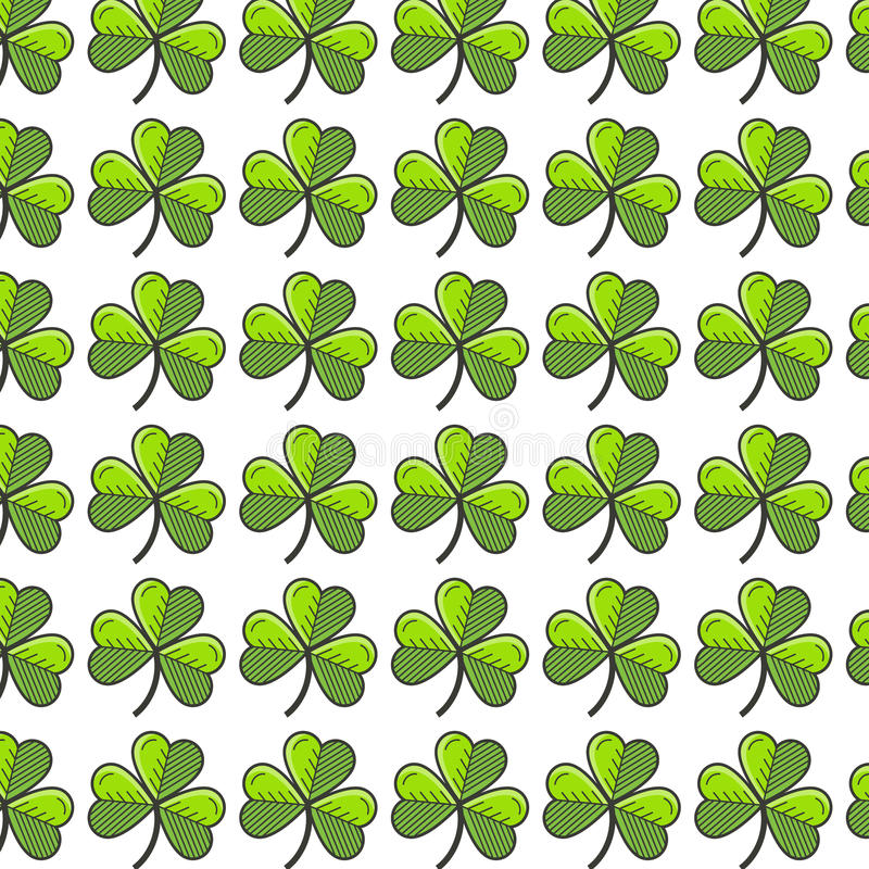 Shamrock seamless pattern. St. Patrick s Day seamless pattern. You can use the design for invitations, cards stock illustration