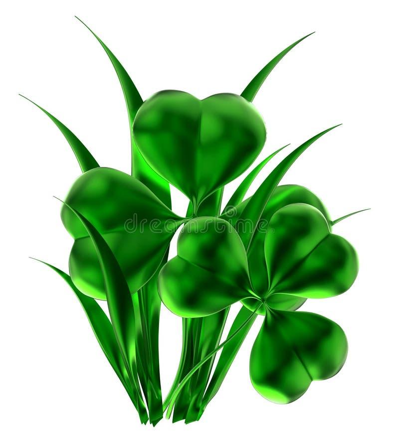 Shamrock som symbol av dagen för St. Patricks vektor illustrationer