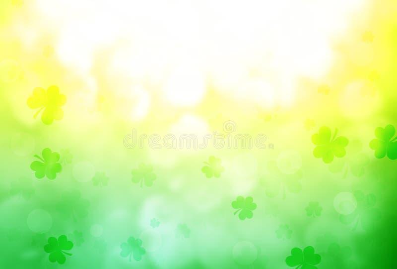 Shamrock-St- Patrick` s Tageshintergrund stockbild