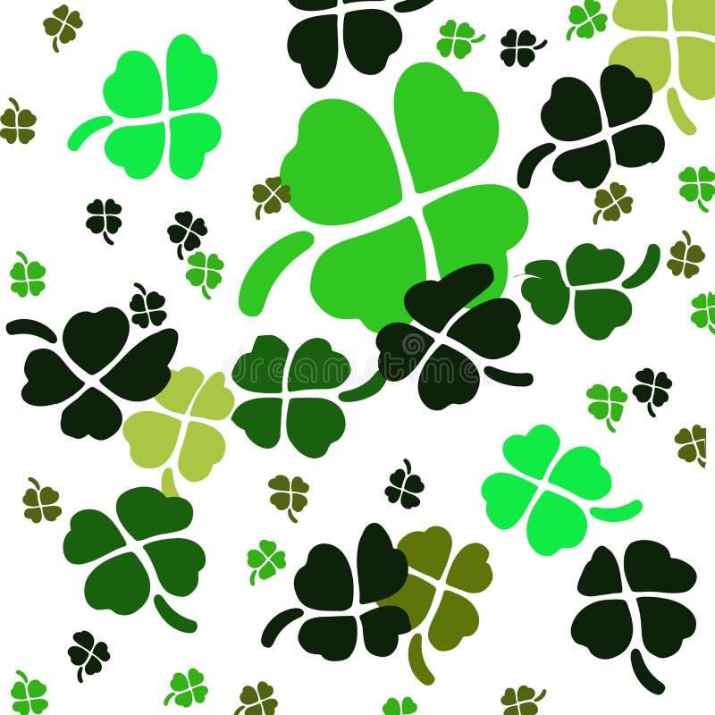 Shamrock. Various green stylized shamrocks on white background stock illustration