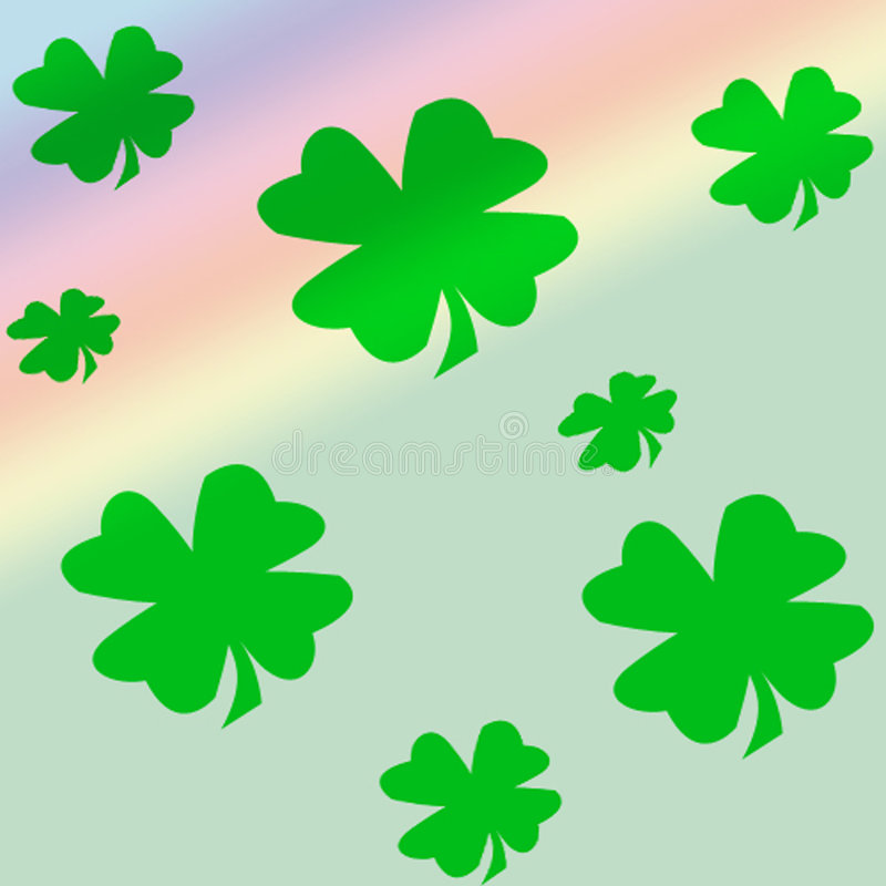 shamrocks stock illustrationer