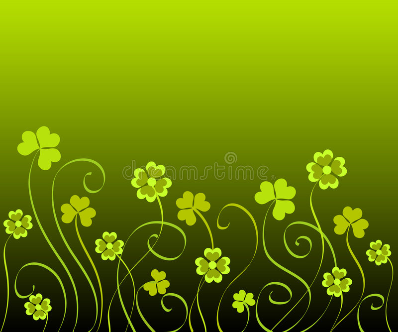 Shamrocks and clovers vector illustration