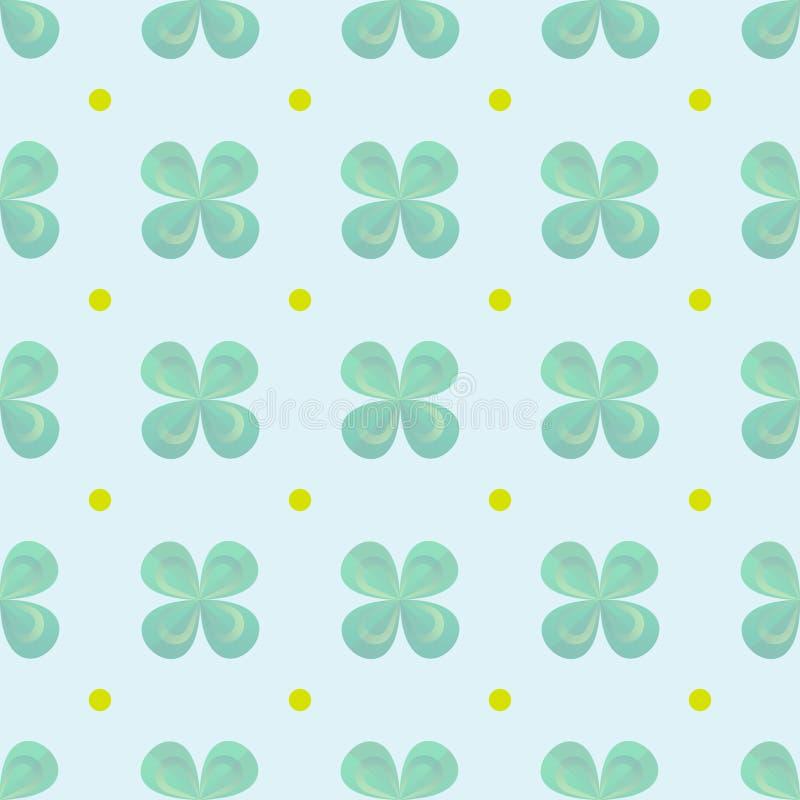 Shamrocktapete Klee verlässt nahtloses Vektormuster Tageshintergrund St Patrick s lizenzfreie abbildung