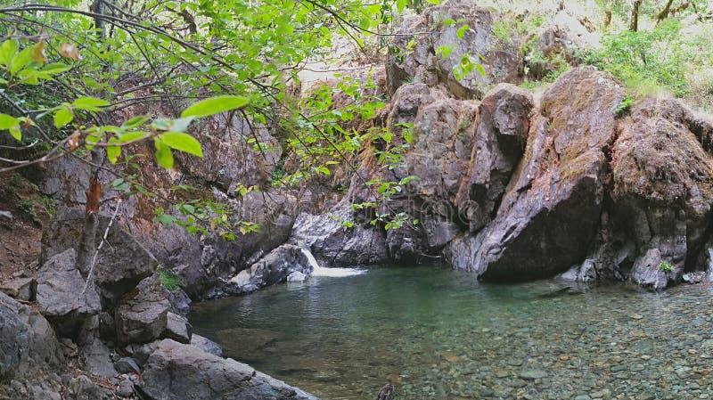 Shan Creek Falls stockbild