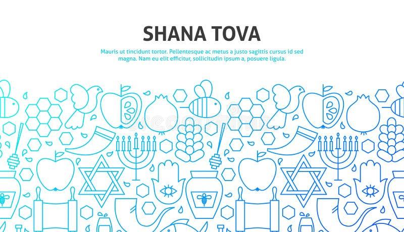 Shana Tova Concept illustration de vecteur