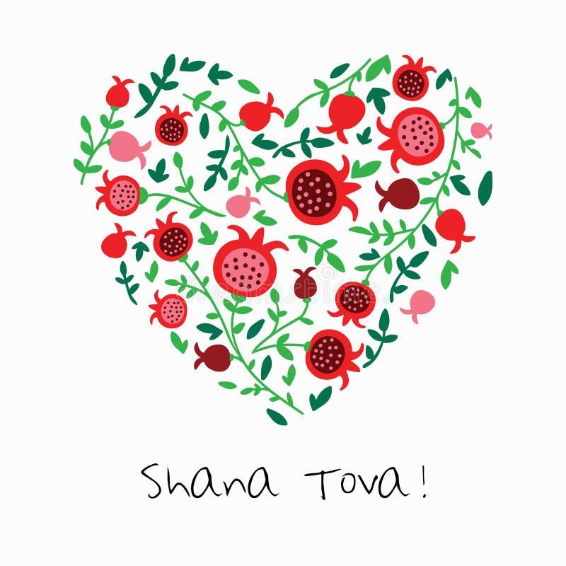 Shana Tova Happy New Year no hebraico ilustração royalty free