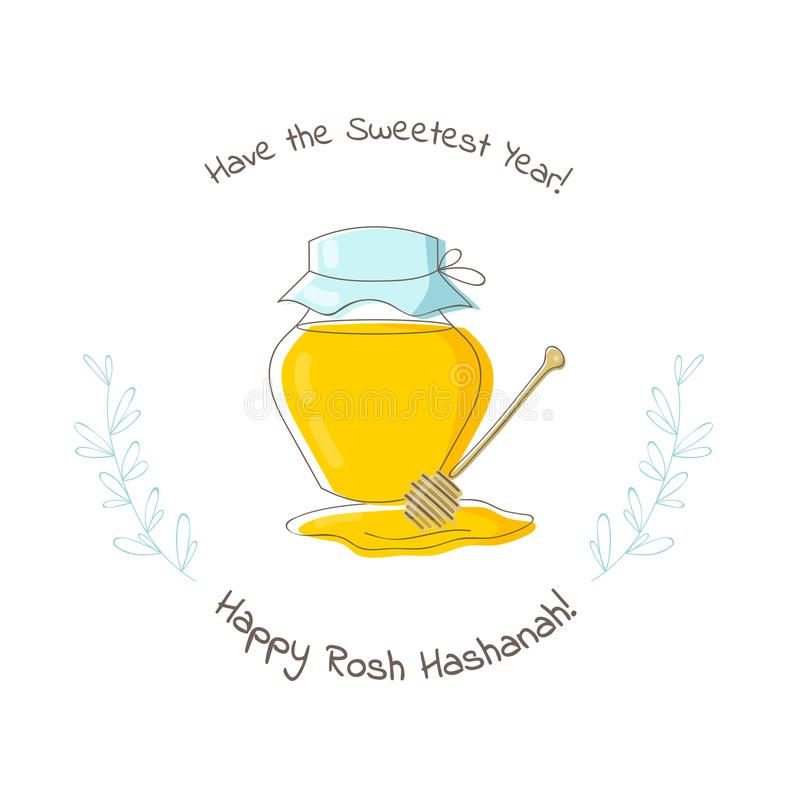 Shana Tova Rosh Hashanah Célébration juive de nouvelle année Illustration de vecteur photos stock
