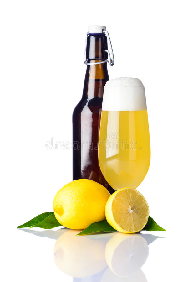 Shandy beer royalty free stock images