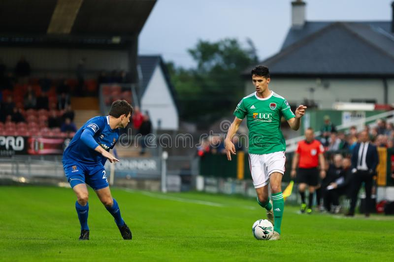 Shane Griffin at the League of Ireland Premier Division match: Cork City FC vs Waterford FC. September 2nd, 2019, Cork, Ireland - Shane Griffin at the League of royalty free stock photo