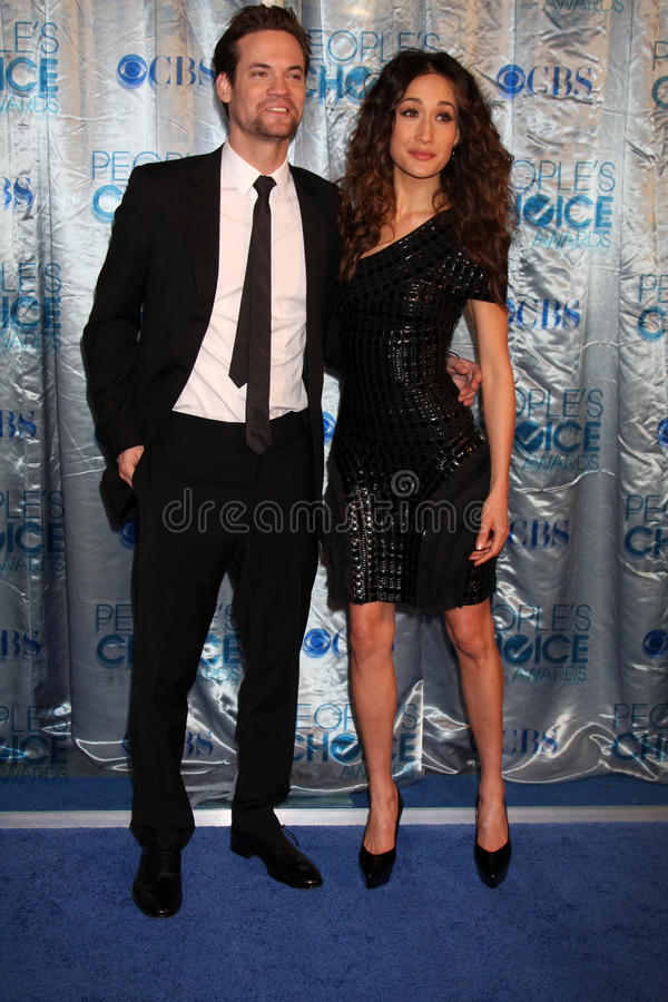 Shane West, Maggie Q image stock