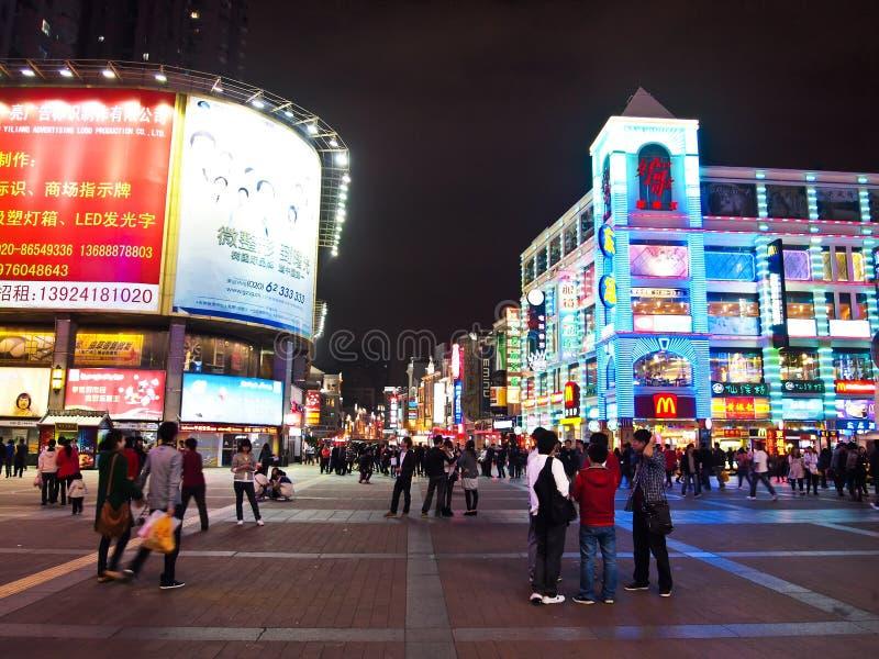 Shang Xia Jiu Shopping Street in Guangzhou stock images
