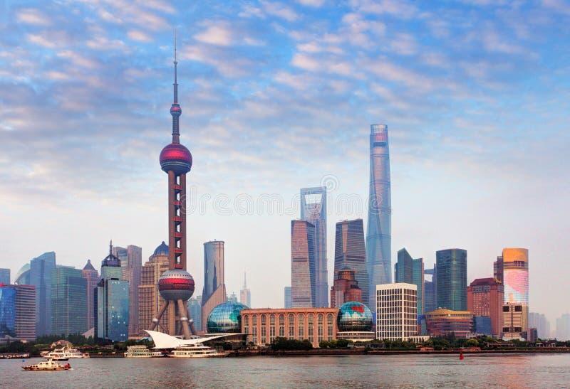 Shangahi horisont, Kina fotografering för bildbyråer