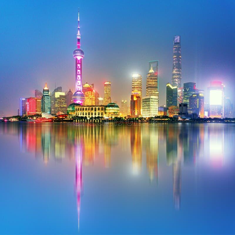 Shangahi horisont, Kina royaltyfri foto