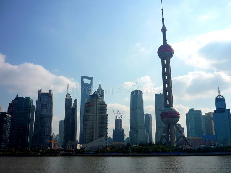 Shangai city royalty free stock photography
