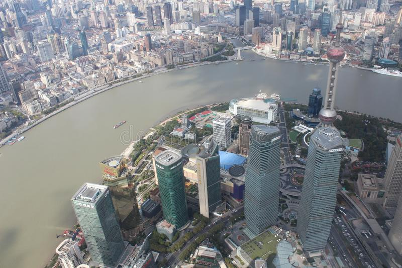 Shangai`s views from the top. stock image