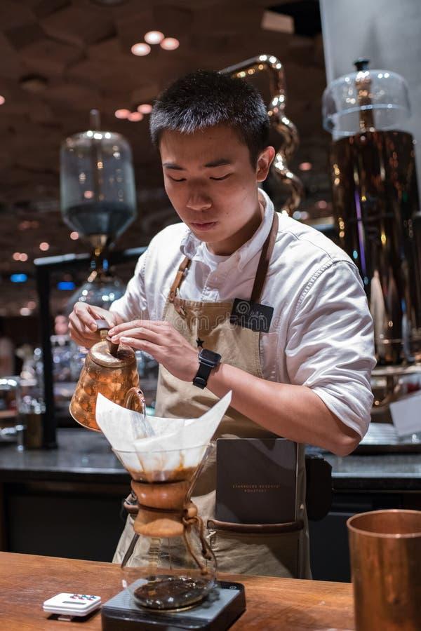 Shangai Starbucks Roastery en Shangai China imágenes de archivo libres de regalías