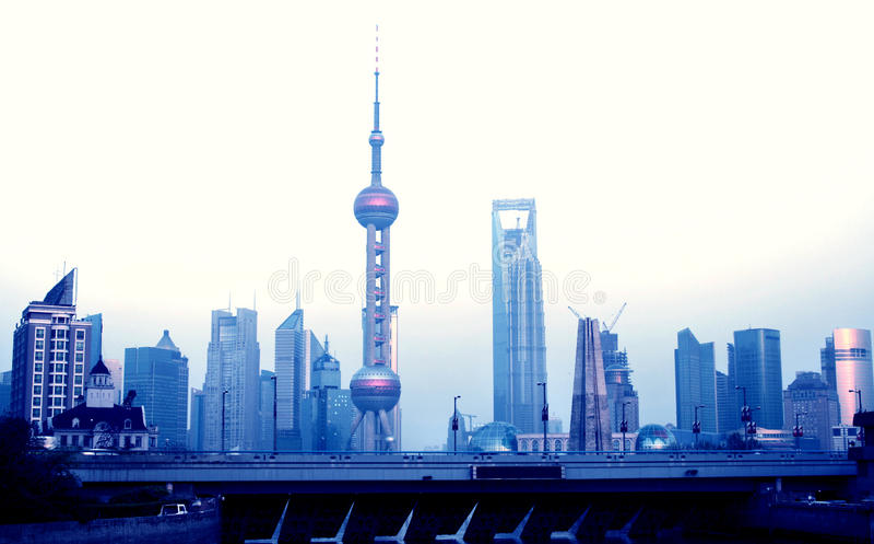 shanghai obrazy stock
