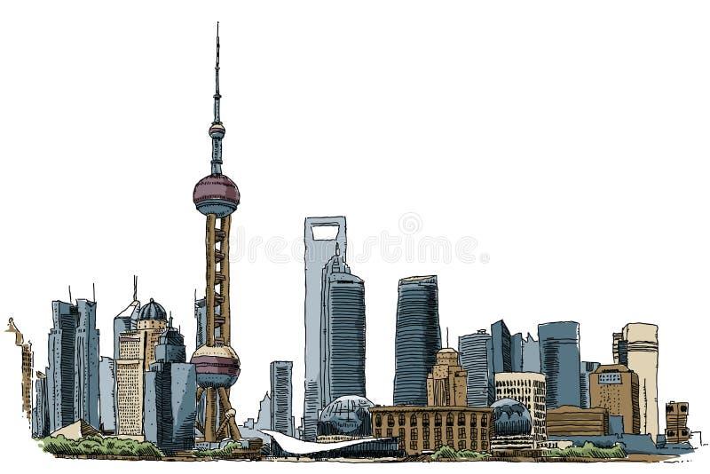 Shanghai ilustração royalty free