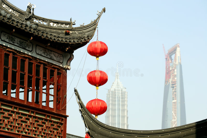shanghai obraz royalty free