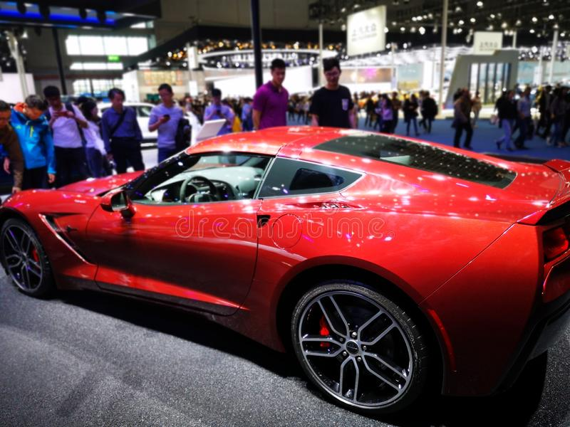Shanghai auto exhibition in 2019 stock images
