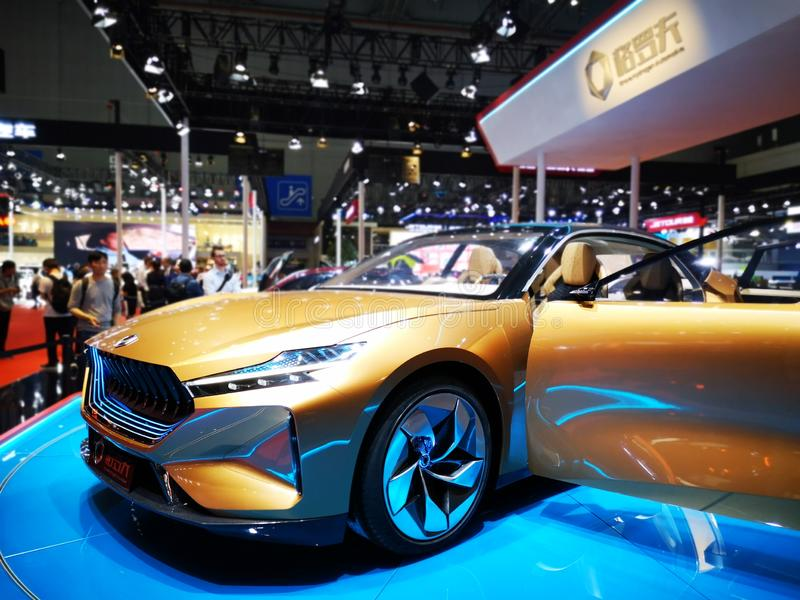 Shanghai auto exhibition in 2019 stock photos