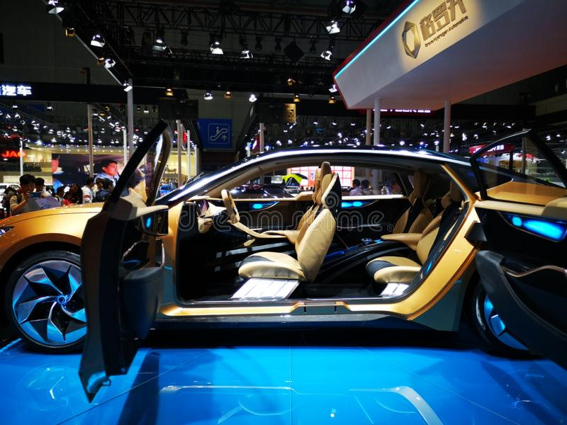 Shanghai auto exhibition in 2019 royalty free stock photo