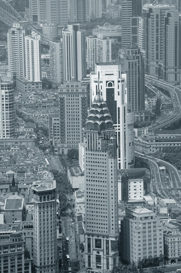 Download Shanghai In Black And White Stock Photo - Image: 27042164