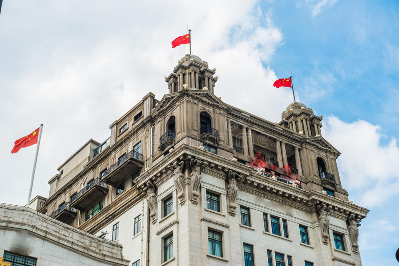 Shanghai Bund historical buildings,China. Shanghai Bund historical buildings,SHANGHAI CHINA stock photos