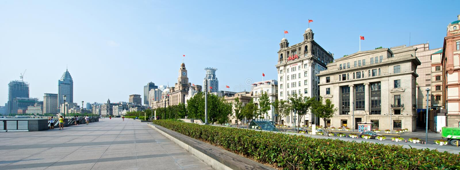 Shanghai Bund in the morning stock photo