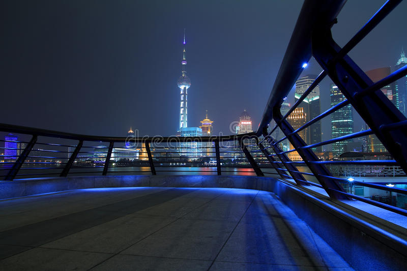 Shanghai bund skyline at night city landscape. Shanghai bund skyline at night stock images