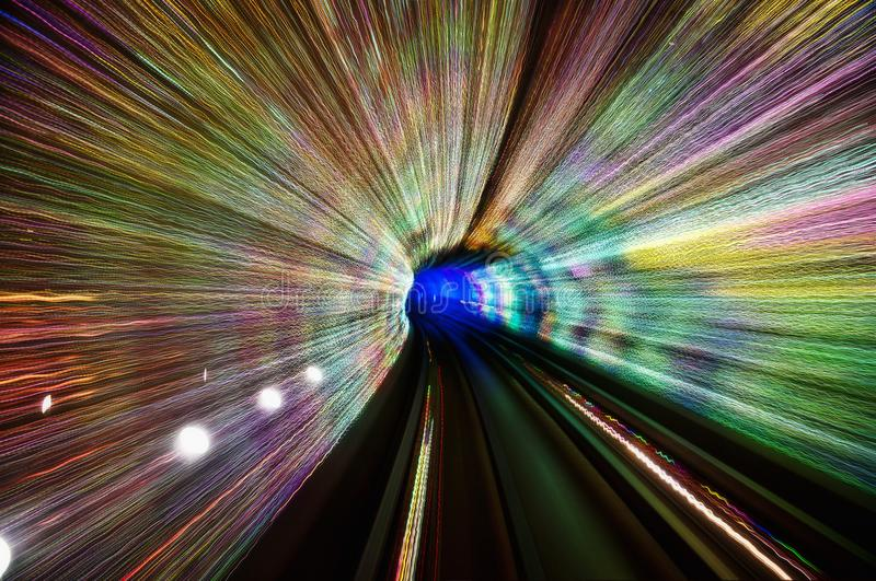 Shanghai The Bund Tunnel royalty free stock images